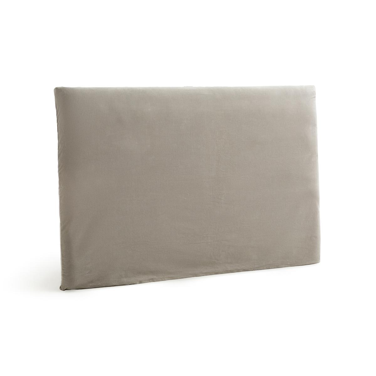 Чехол LaRedoute Для изголовья кровати из вельвета Mereson 160 см серый