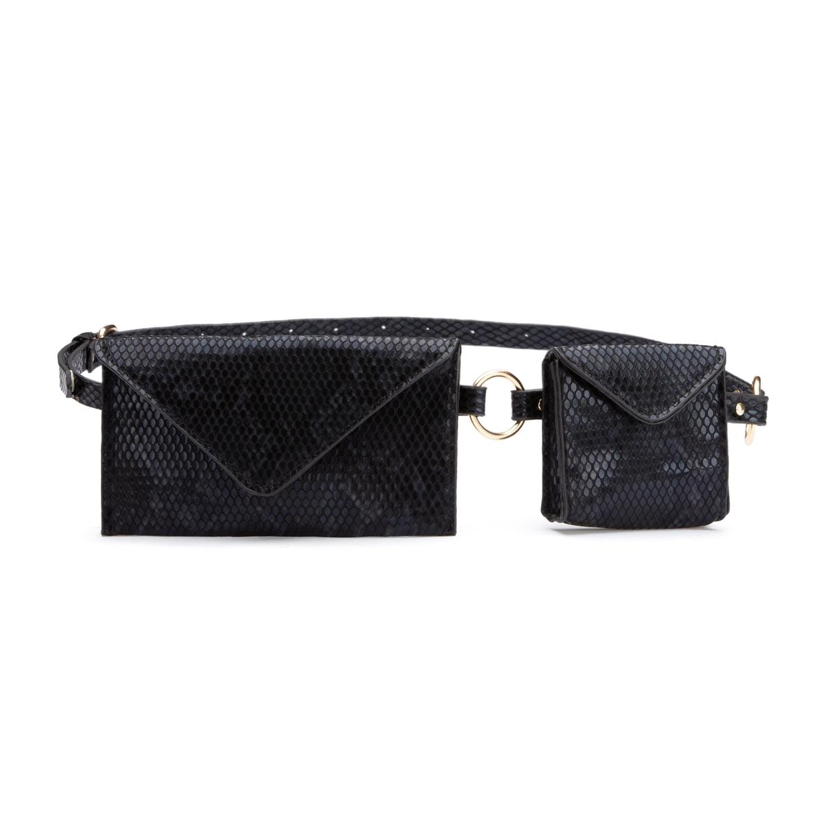 Cinturón con bolsos y motivos fantasía