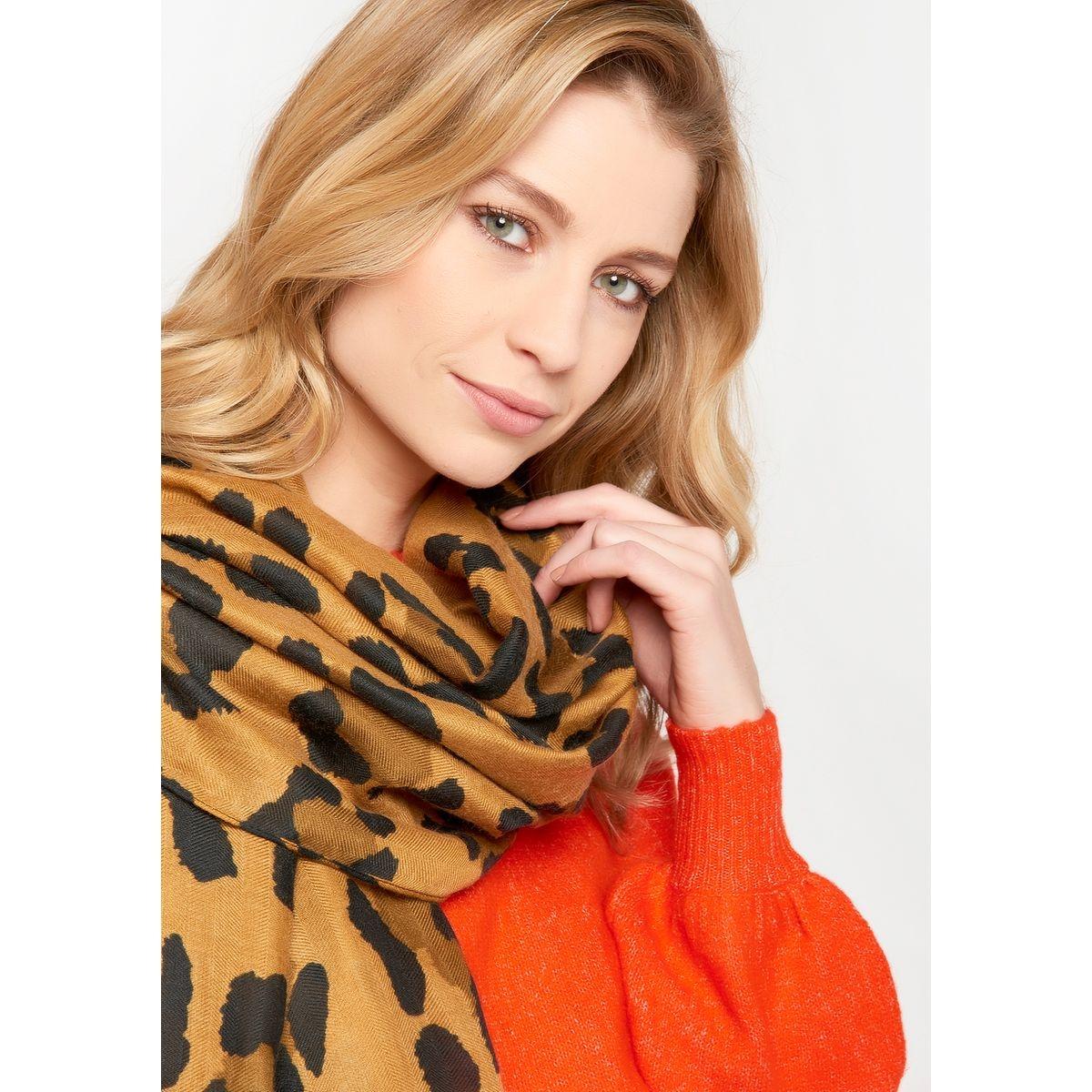 Echarpe avec imprimé léopard