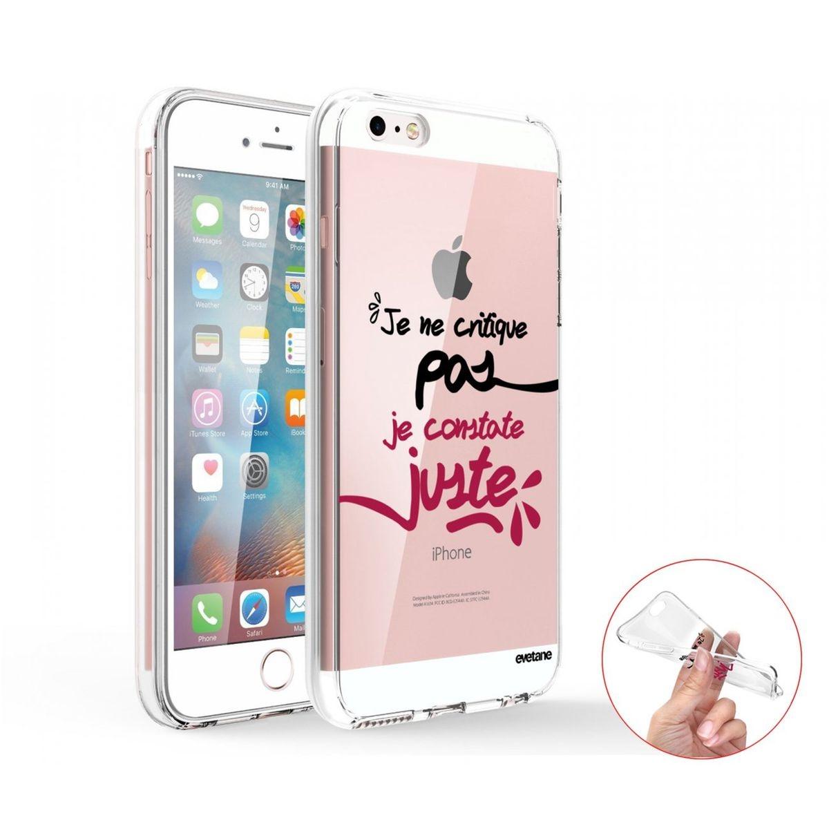 Coque iPhone SE / 5S / 5 360 intégrale transparente, Je Constate Juste, Evetane®