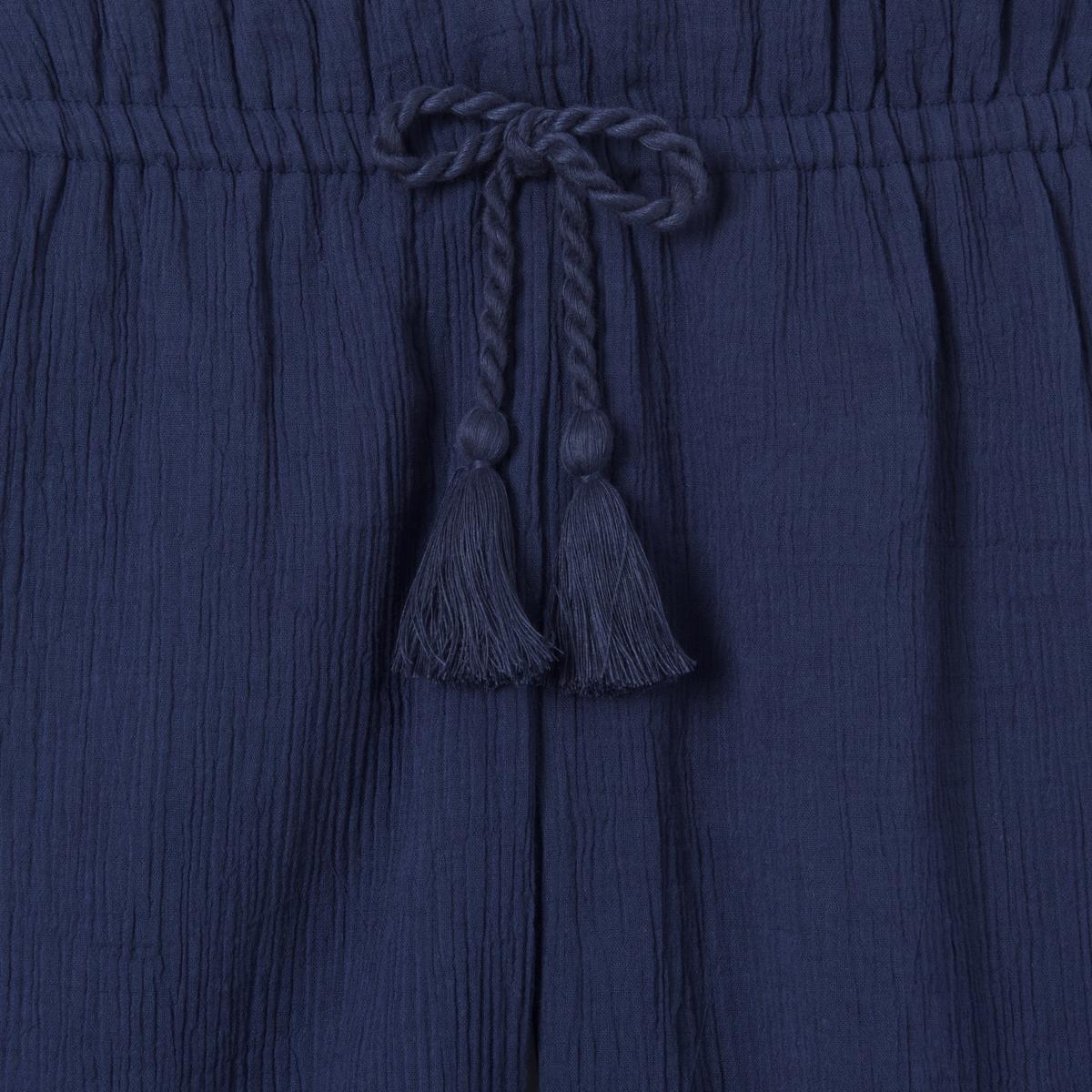 Юбка-брюки короткая, 3-12 летКороткая юбка-брюки из хлопкового крепа. Эластичный пояс с завязкам. Состав и описание : Материал          креп, 100% хлопокМарка          abcdRУход :Машинная стирка при 30 °C с вещами схожих цветовСтирать и гладить с изнаночной стороныСухая чистка и машинная сушка запрещеныГладить при низкой температуре<br><br>Цвет: синий морской<br>Размер: 4 года - 102 см