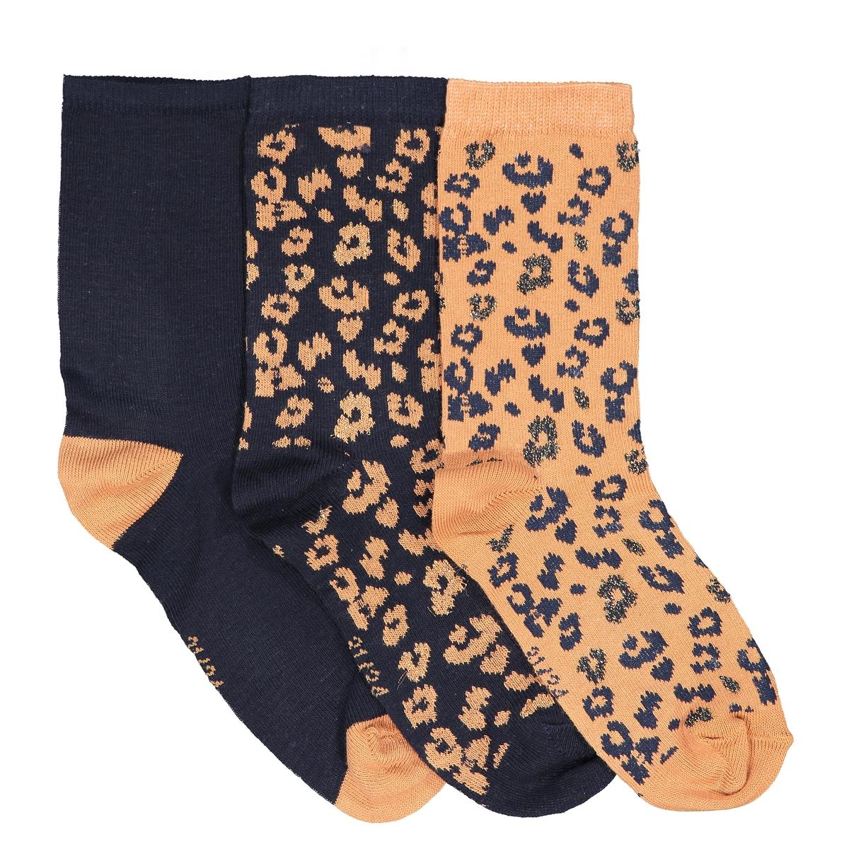 Комплект из пар носков La Redoute Размеры - 23/26 каштановый комплект из пар носков la redoute размеры 23 26 черный