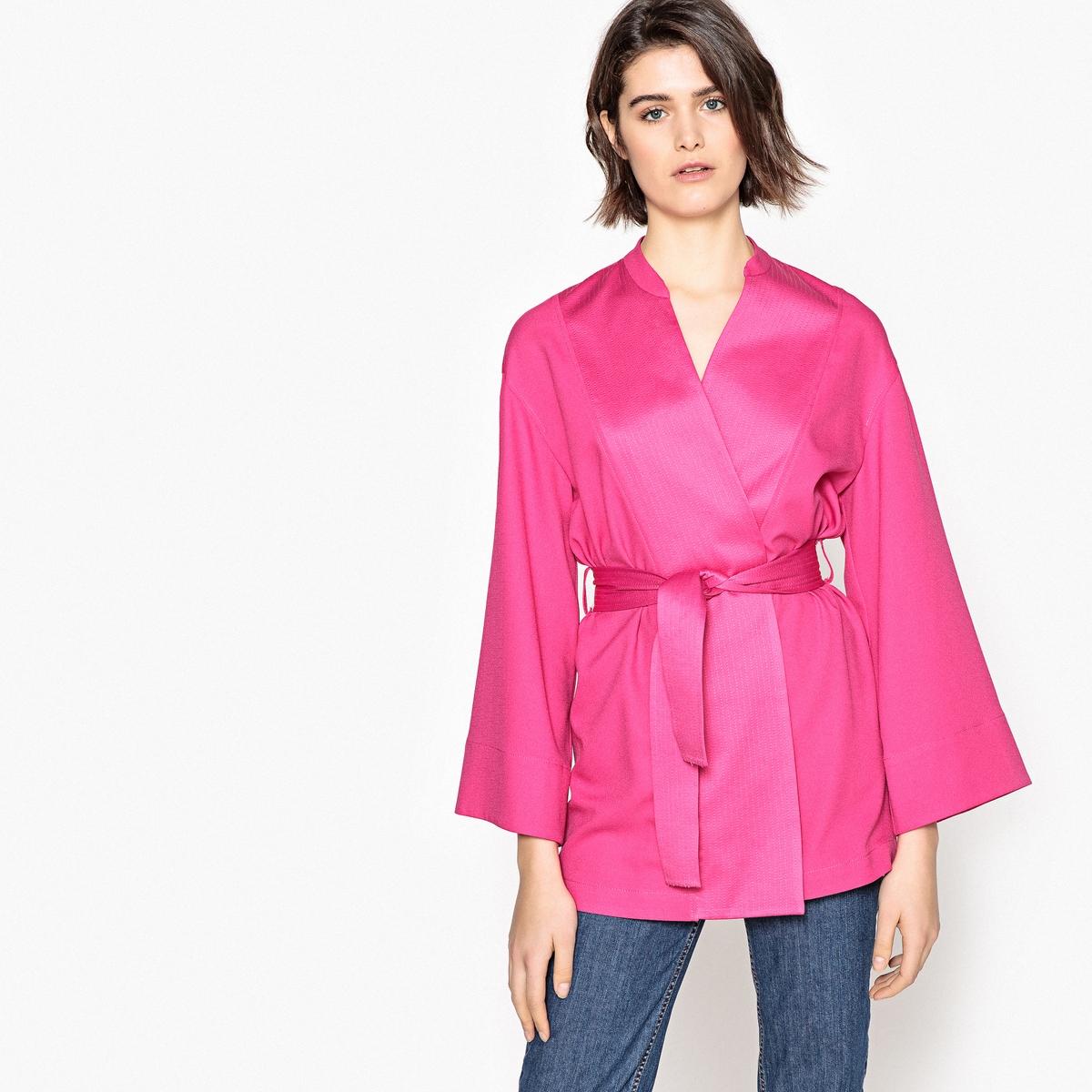 Кимоно La Redoute Средней длины 34 (FR) - 40 (RUS) розовый цена