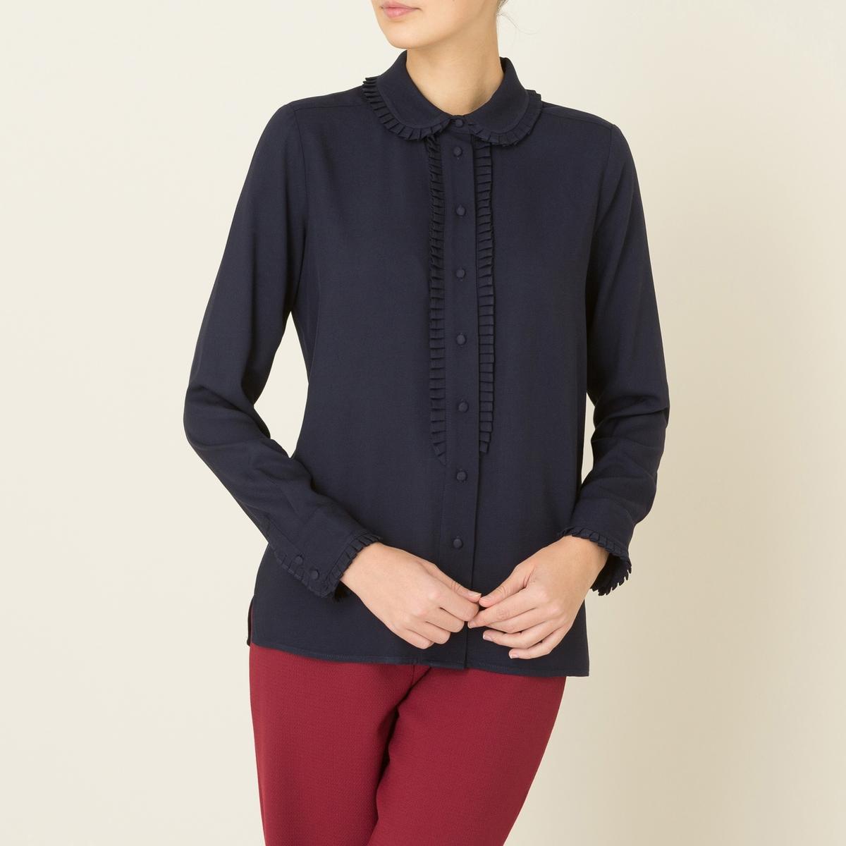 Рубашка PAOLAСостав и описание :Материал : Струящаяся ткань, 100% вискозаМарка : PAUL AND JOE SISTER<br><br>Цвет: темно-синий