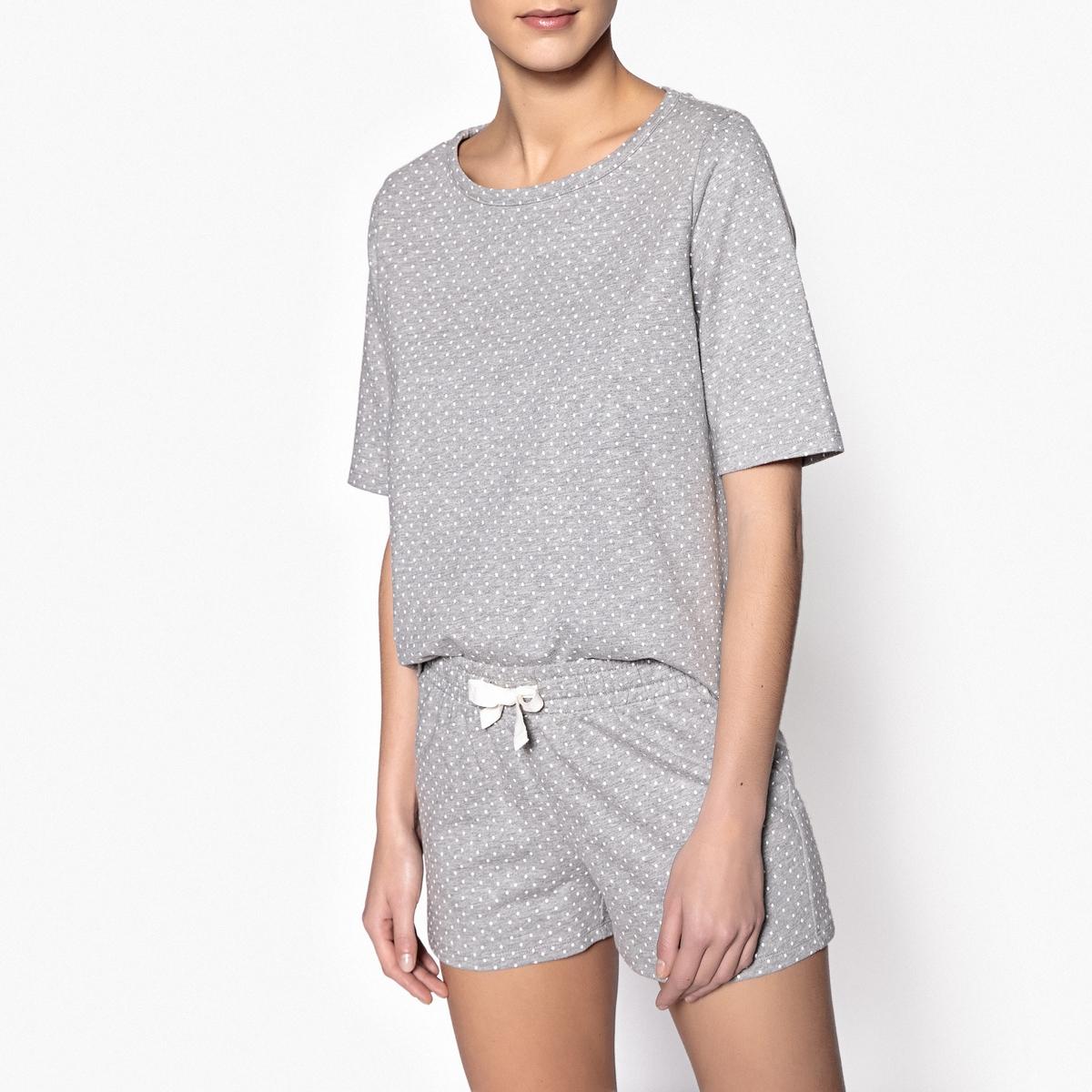 Пижама с шортами в горошек пижама с шортами с рисунком