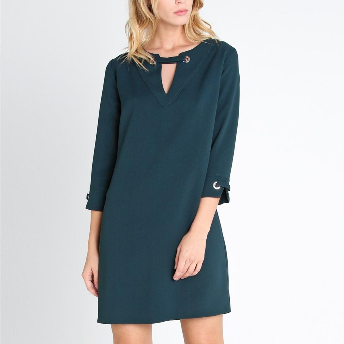 Платье из двух материалов RUBYСостав и описание :Материал : 100% полиэстерМарка : LENNY B<br><br>Цвет: зеленый<br>Размер: 2(M)