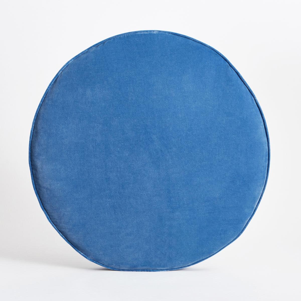 Подушка напольная SindacoХарактеристики : - Покрытие из 100% хлопкового велюра- Наполнитель из полиэфирного пеноматериала и волокон полиэстера- Съёмный чехол, стирка при 40°CРазмеры : - ?75 x В8 см.<br><br>Цвет: розовый,синий