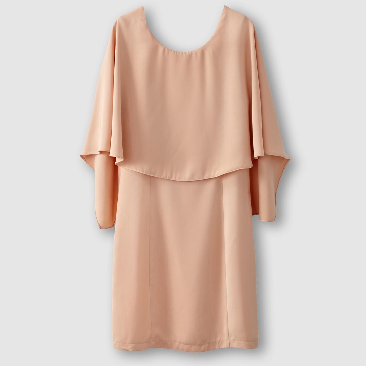 Платье прямого покроя, вырез сзади, наложенные друг на друга детали вверху VERO MODA VIFICA DRESS духовой шкаф electrolux opea4300x