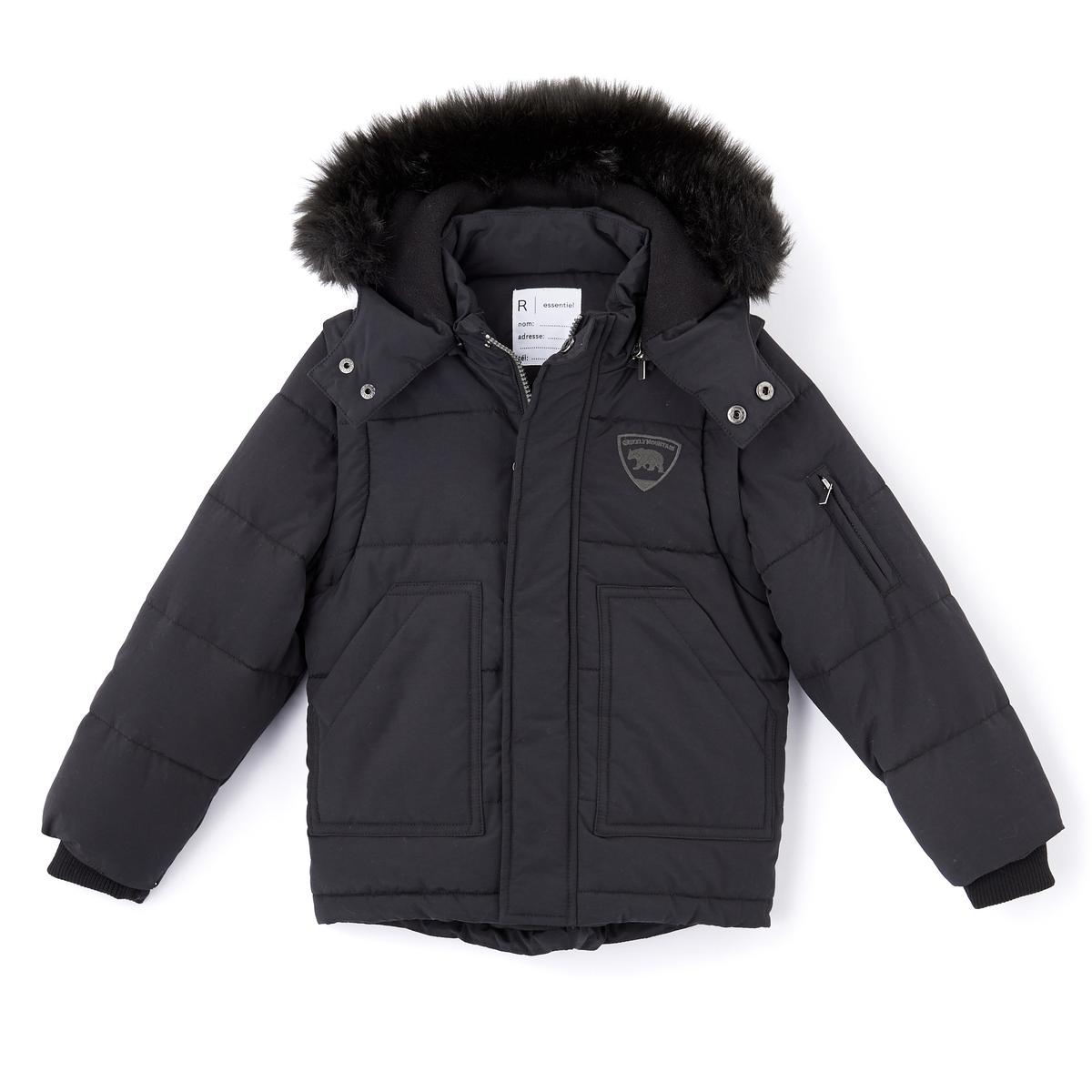 Куртка стеганая с капюшоном для мальчика, 3-12 летОписание:Детали •  Зимняя модель •  Непромокаемое •  Застежка на молнию •  С капюшоном •  Длина  : укороченная  Состав и уход •  55% хлопка, 45% полиамида •  Наполнитель : 100% полиэстер •  Температура стирки 30° •  Гладить при низкой температуре / не отбеливать • Барабанная сушка на слабом режиме       • Сухая чистка запрещена   Преимущества •  Съемные рукава •  Съемный капюшон •  Съемная оторочка из искусственного меха •  Внутренняя флисовая подкладка •  Внутренний карман<br><br>Цвет: темно-зеленый,черный<br>Размер: 8 лет - 126 см.6 лет - 114 см.5 лет - 108 см.4 года - 102 см.3 года - 94 см.4 года - 102 см