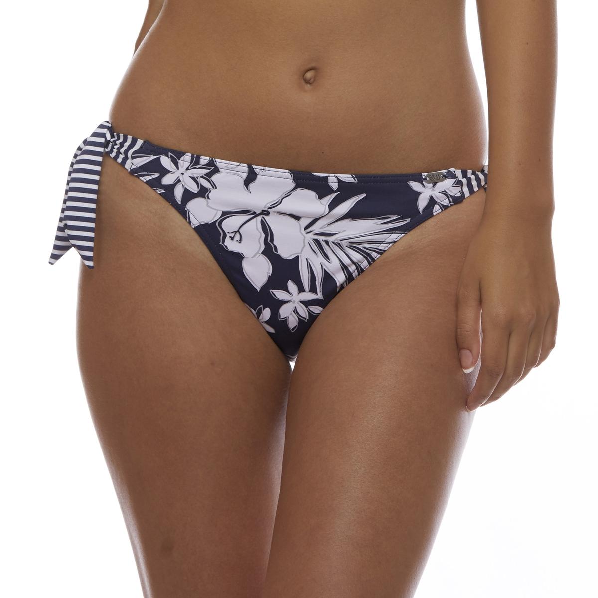 цена Низ La Redoute От купальника-бандо с принтом гибискус 40 (FR) - 46 (RUS) синий онлайн в 2017 году