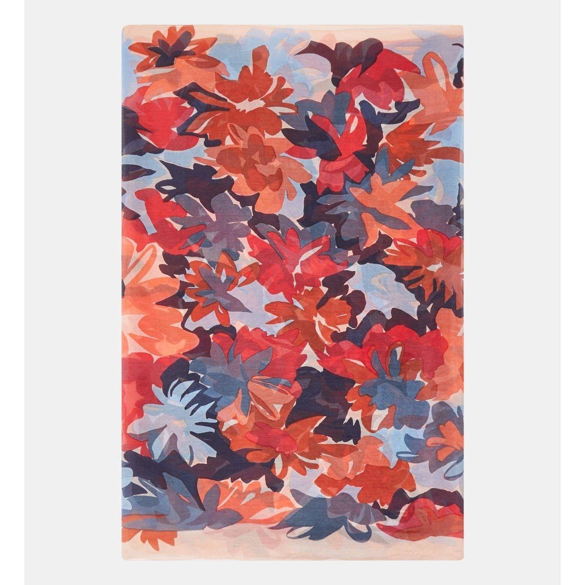 Foulard Bulle Soie Florale