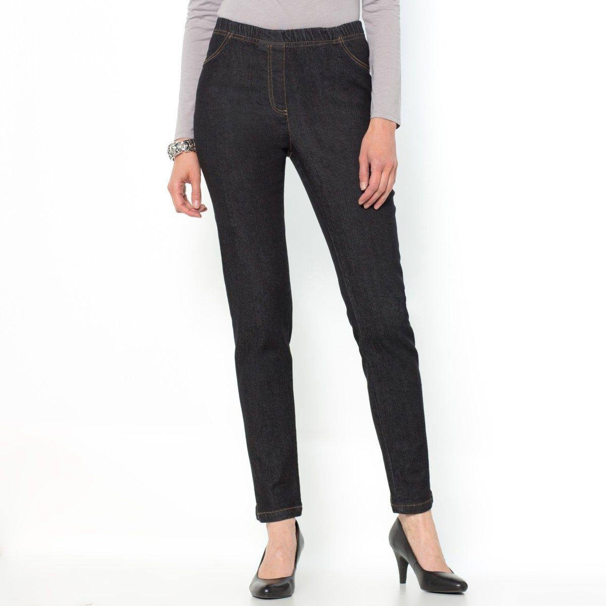 Jeans em ganga stretch, corte afunilado