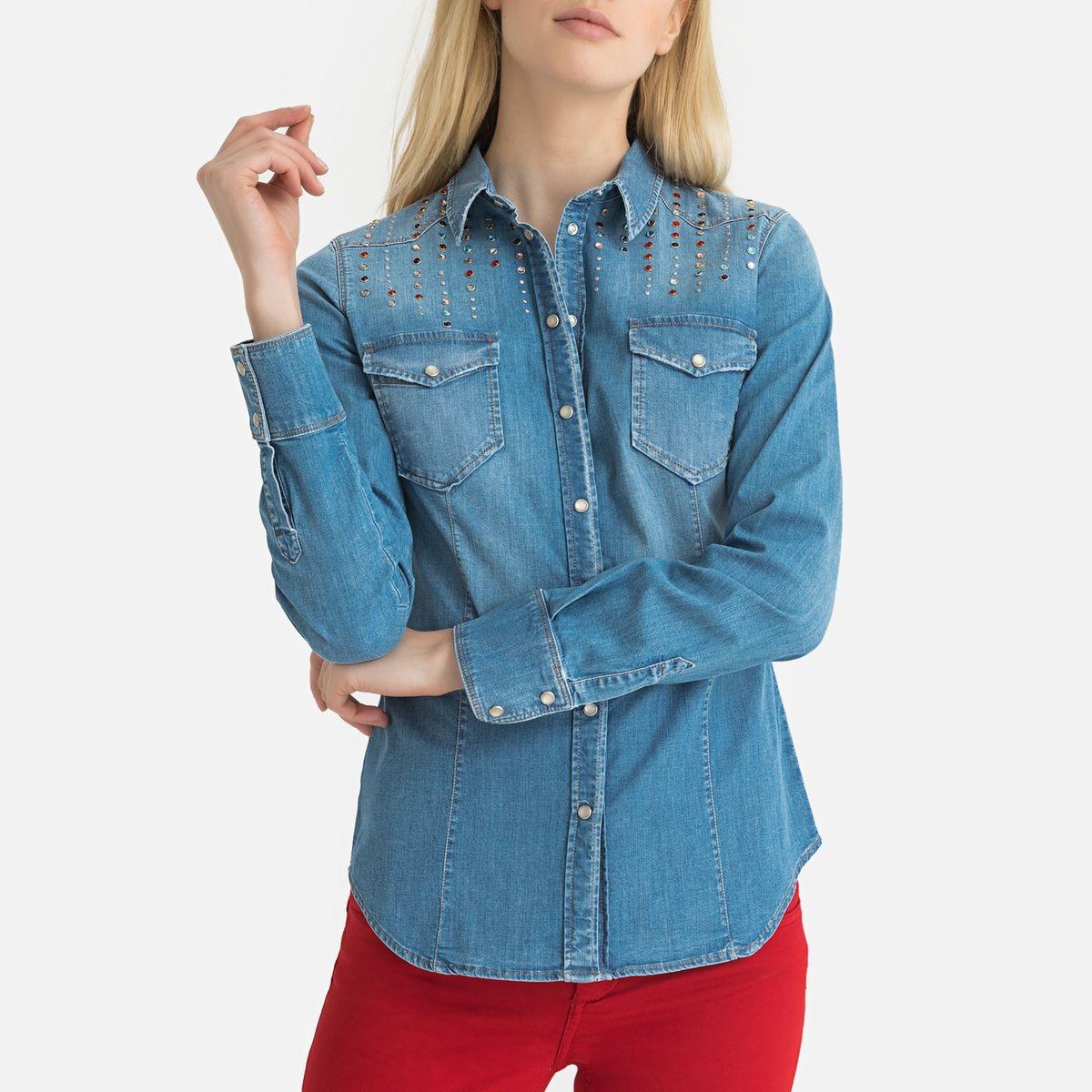 Chemise en jean à manches longues