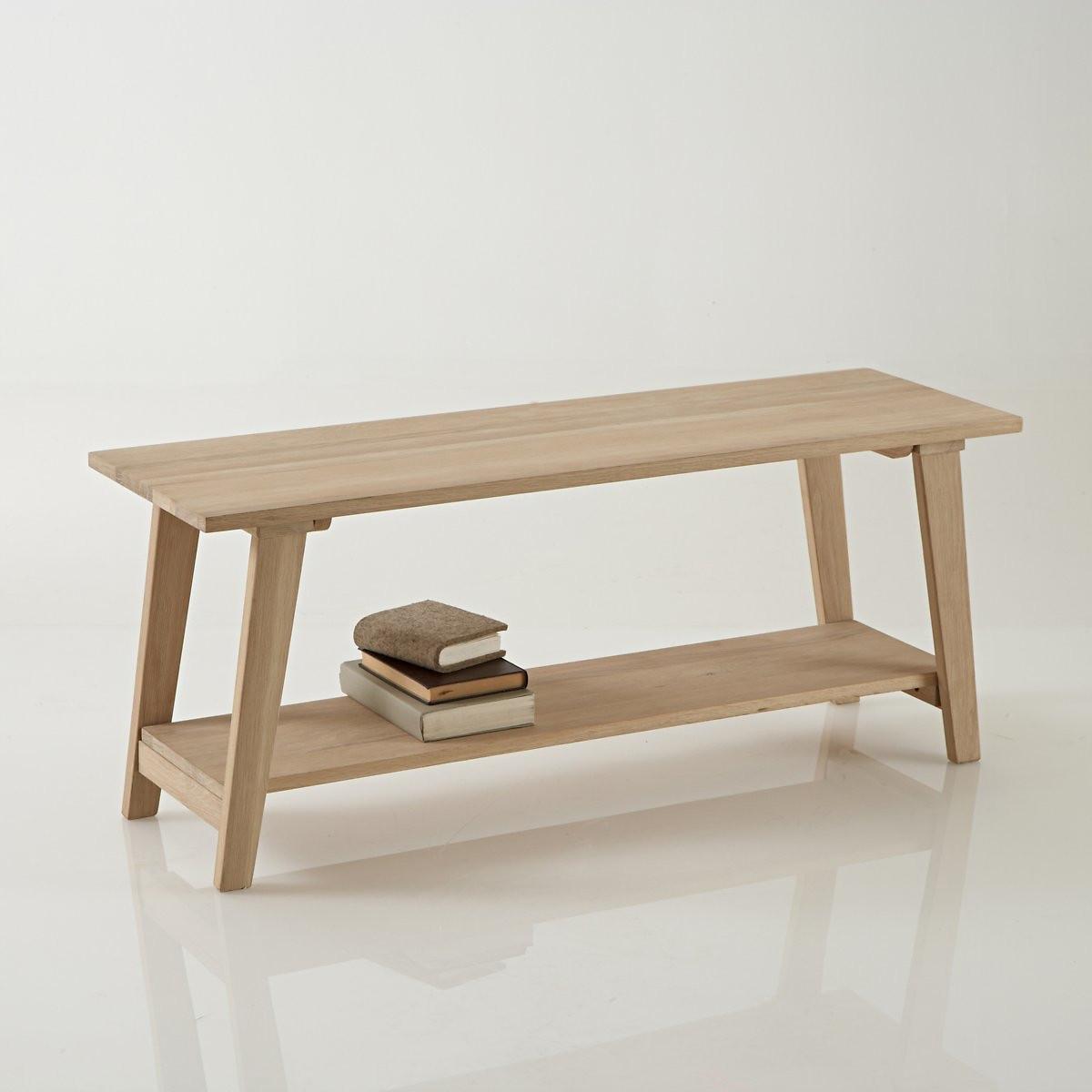Скамья LaRedoute Для прихожей Oaky единый размер каштановый мебель для прихожей