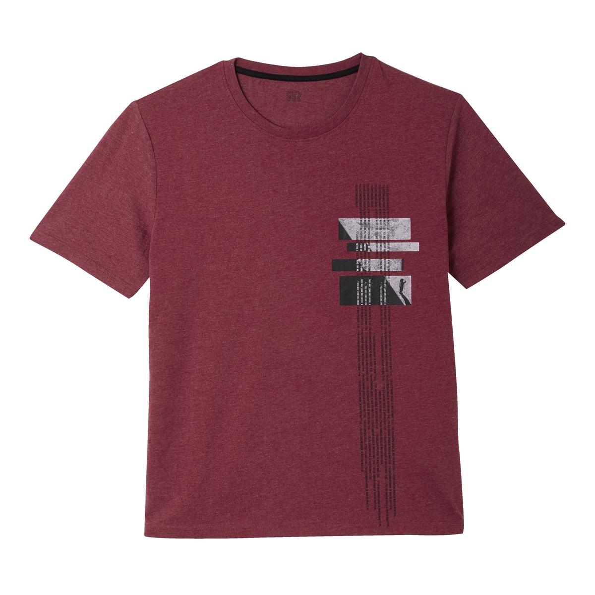 Футболка с круглым вырезом и рисунком футболка puma футболка disrupt tee