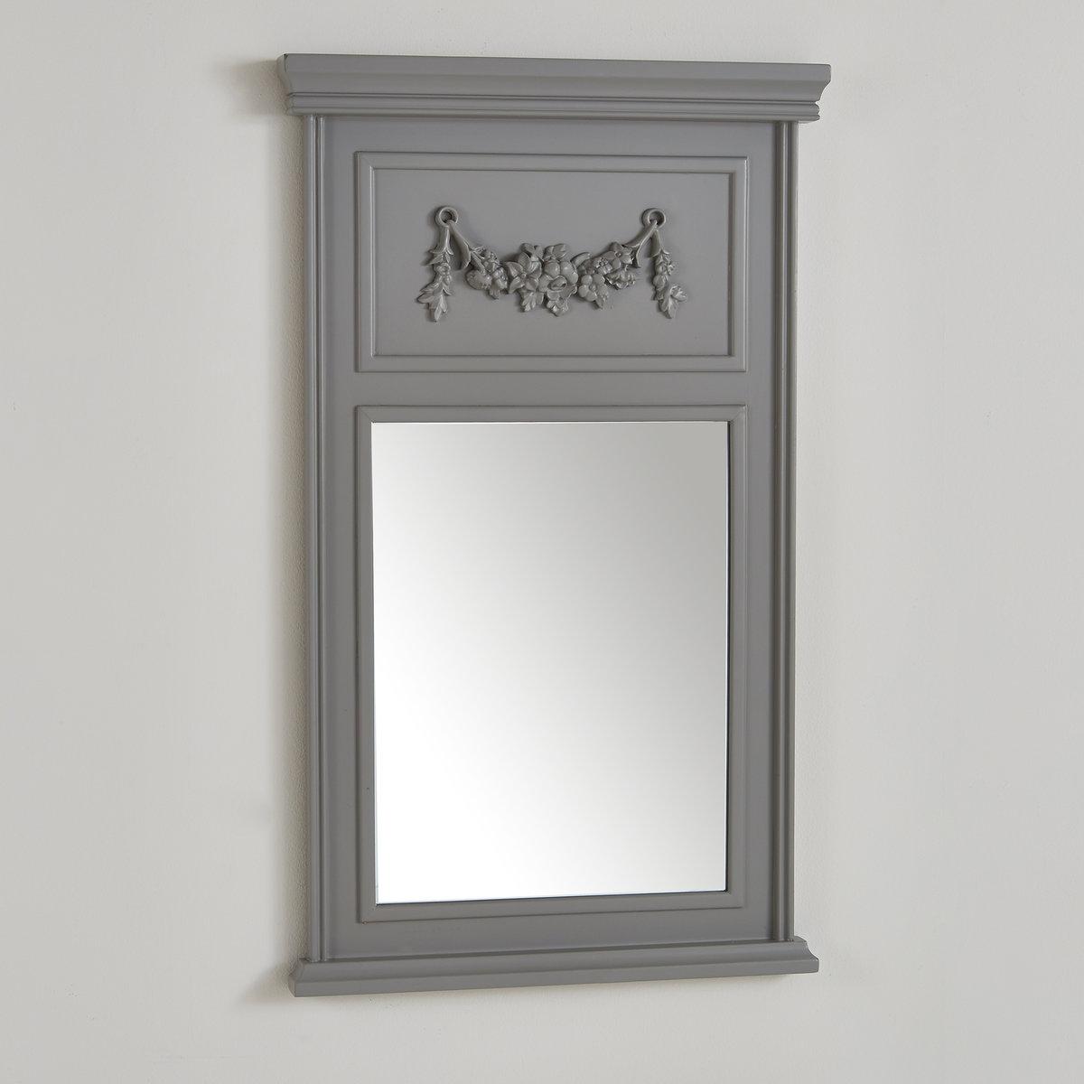 Зеркало MedioОписание зеркала Medio :Декор в верхней части из полимерной смолыХарактеристики зеркала Medio :сосна, отделка из нитроцеллюлозы.Размеры трюмо Medio :Ширина : 54 смВысота : 90 смТолщина : 5 см<br><br>Цвет: белый,серый