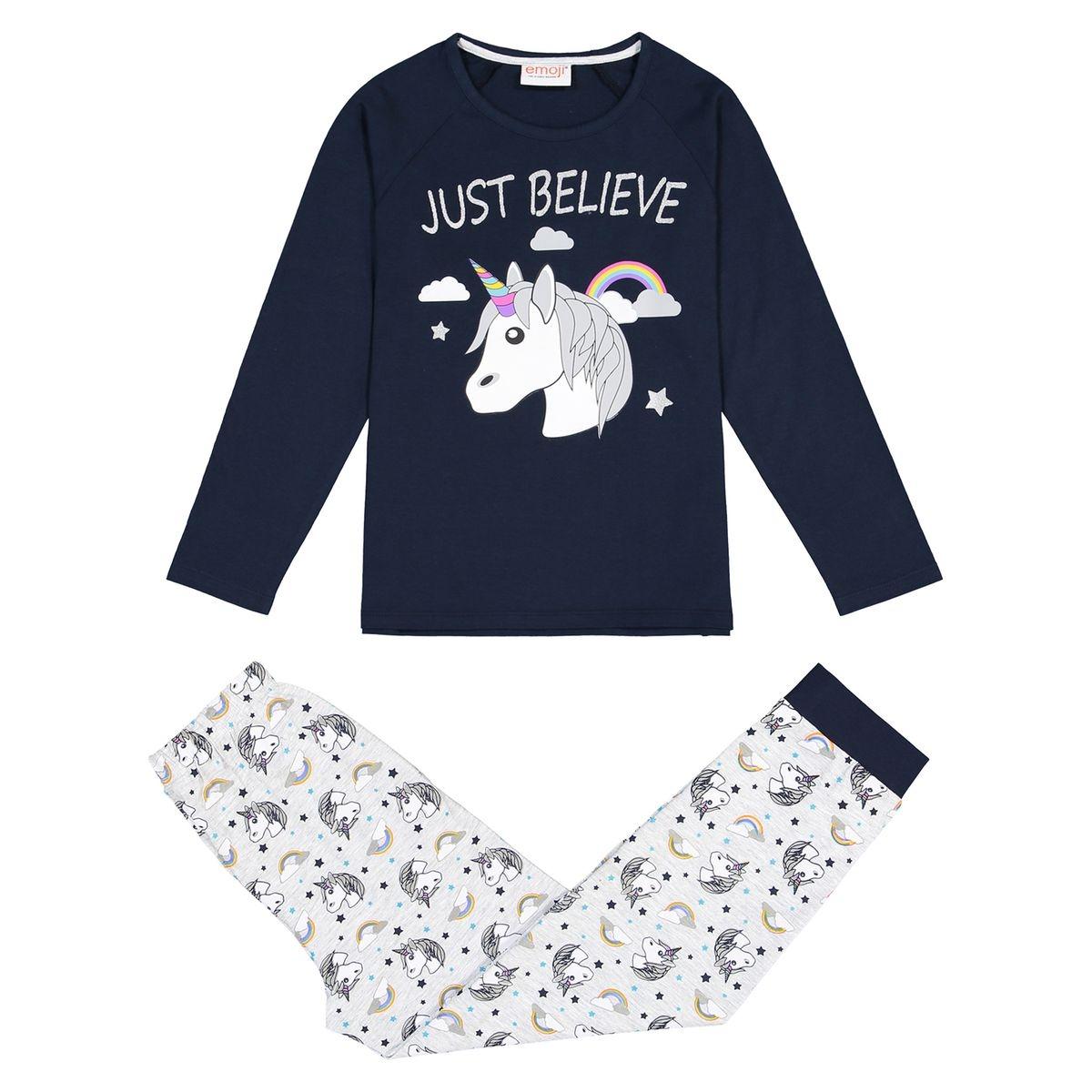 Pyjama imprimé licorne 4-12 ans