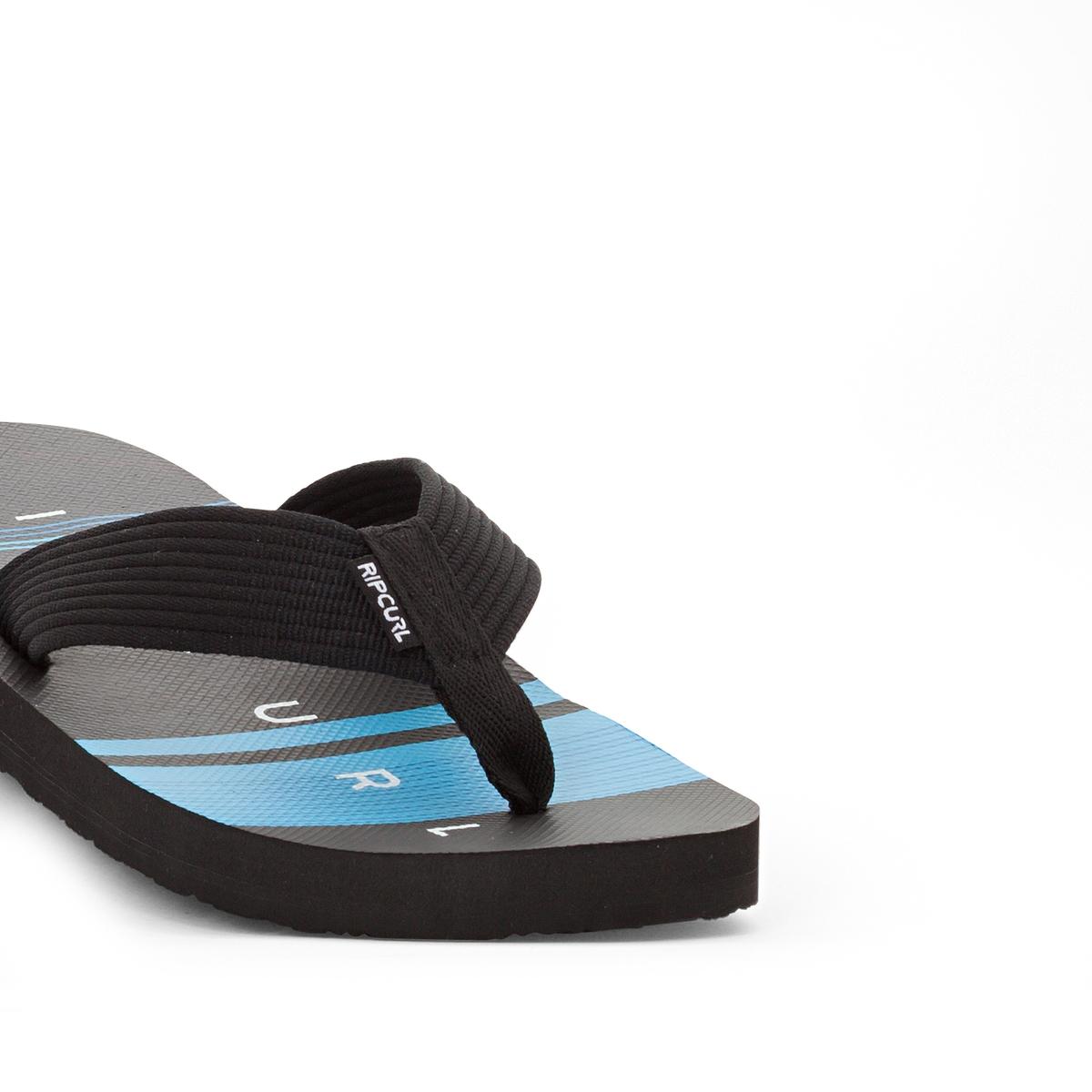 Вьетнамки Bob CushВерх/Голенище : текстиль   Стелька : синтетика   Подошва : каучук   Форма каблука : плоский каблук   Мысок : открытый мысок   Застежка : без застежки<br><br>Цвет: черный/ синий