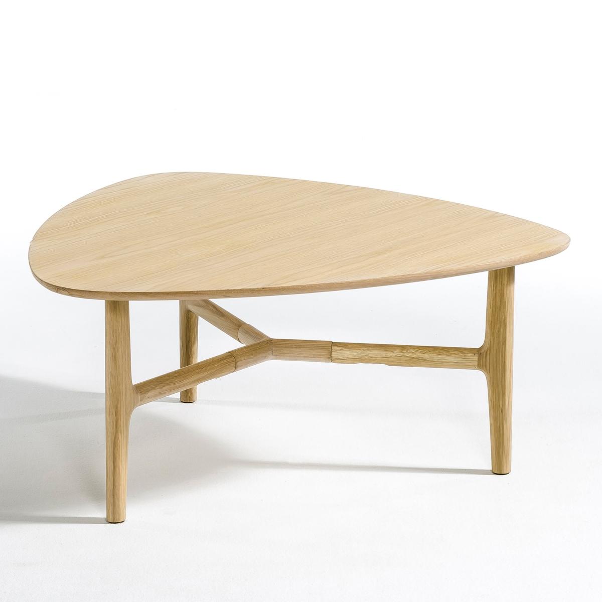 Столик журнальный треугольный LouisaLa Redoute<br>Журнальный столик Louisa. Элегантный и сдержанный дизайн и очаровательный современный стиль. Закругленная форма углов позволит этому столику мягко вписаться в дизайн любой комнаты. Характеристики : - Столешница из МДФ с покрытием из дуба- Ножки из массива дуба. - Финальное покрытие полиуретановым лакомРазмеры : - Ш.83 x В.38 x Г.83 см.Размеры и вес упаковки : - Ш.90,5 x В.10 x Г.88,5 см, 10,5 кг. Доставка:Возможна доставка до двери при предварительной договоренности!<br><br>Цвет: натуральный дуб