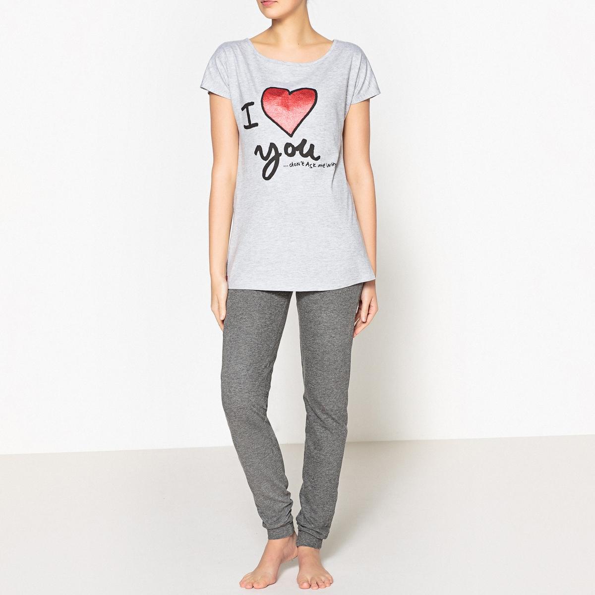 Пижама из 2 изделий с рисунком, Lovelies пижама с шортами с рисунком