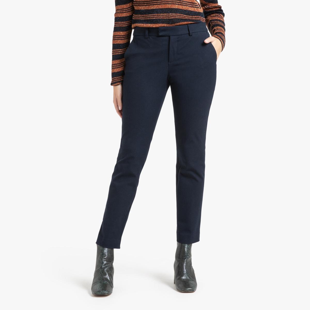 Брюки La Redoute Slim PALMORA 40 (FR) - 46 (RUS) синий брюки la redoute узкие дудочки с жаккардовым рисунком 50 fr 56 rus черный