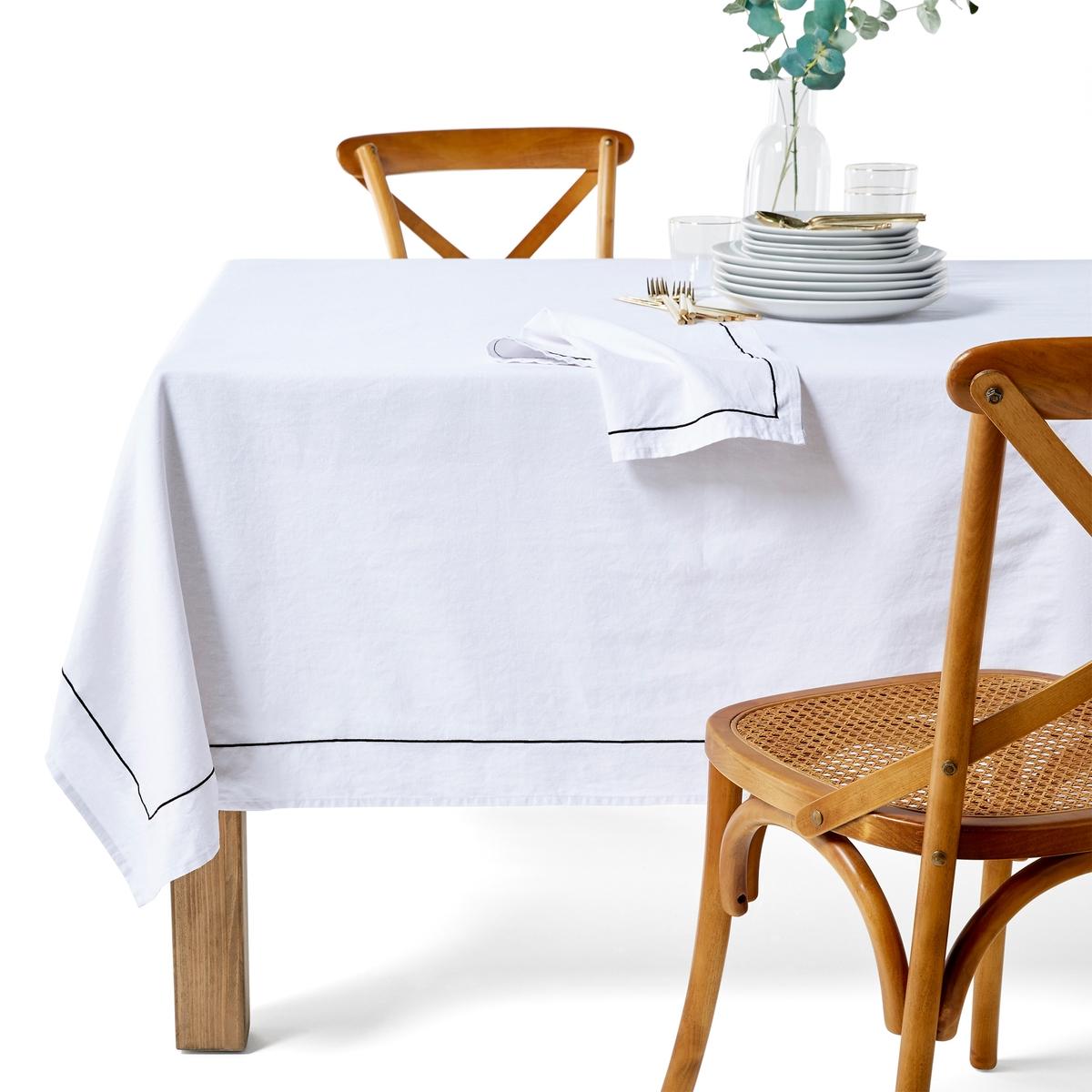 Скатерть La Redoute Хлопок-лн Mtis Bourdon 150 x 300 см белый