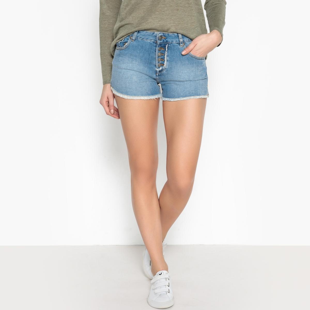 Шорты джинсовые с бахромой  MALO