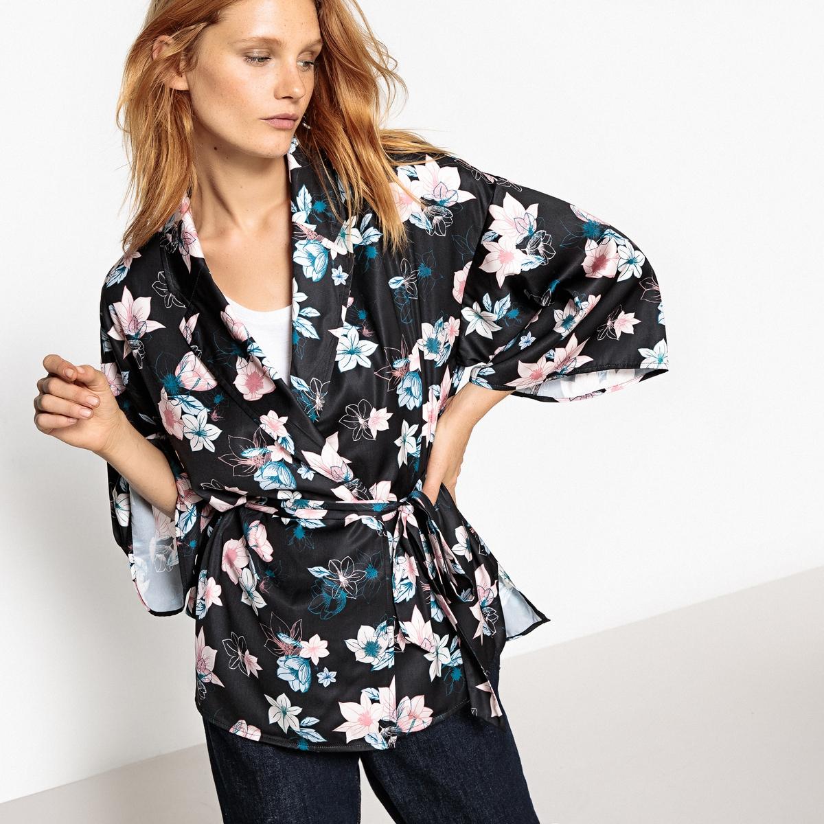 Рубашка-кимоно, пиджачный воротник цена 2017