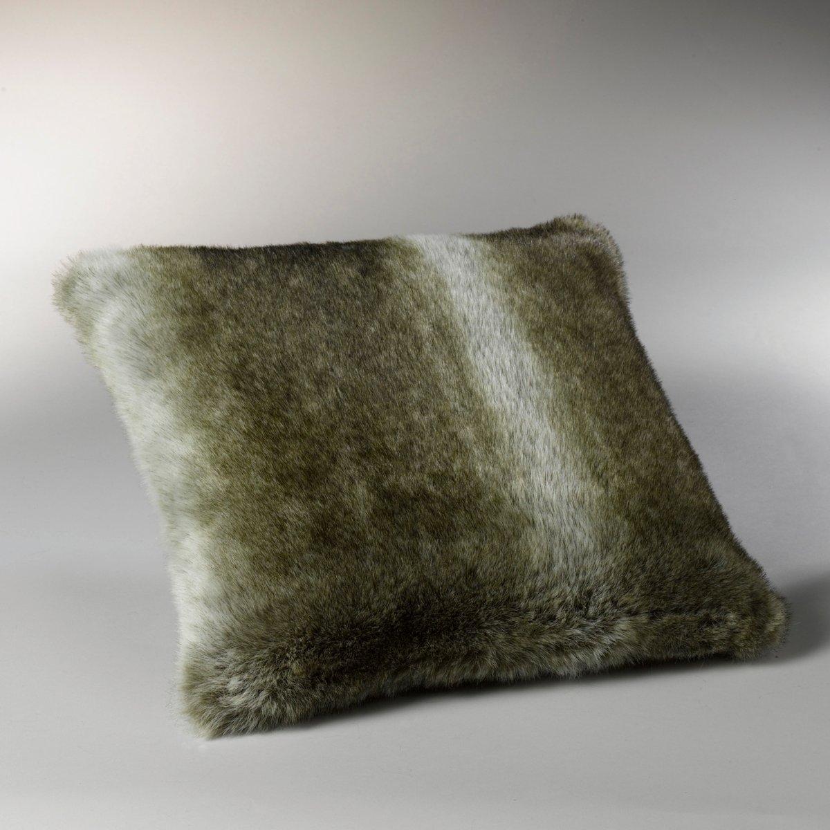 Чехол La Redoute Для подушки из искусственного меха BAZSO 40 x 40 см серый чехол для подушки из шерсти osia