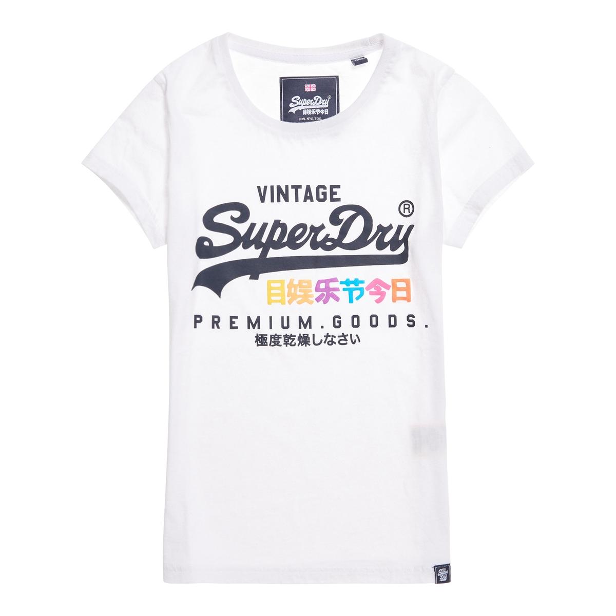 Imagen principal de producto de Camiseta con cuello redondo, manga corta y logotipo - Superdry