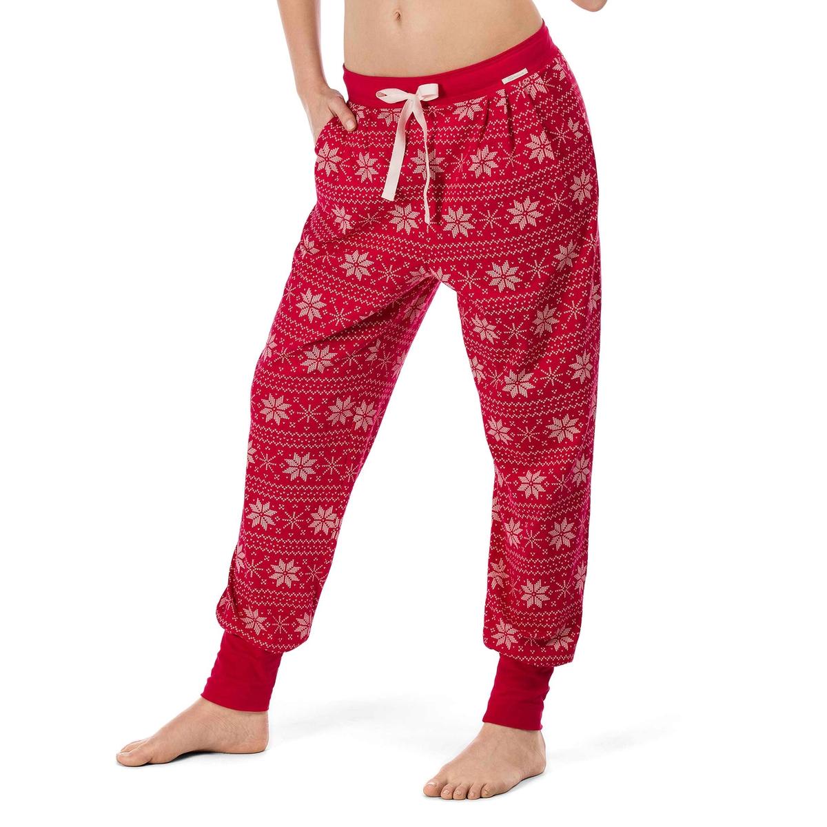 Брюки пижамные TemptationСостав и детали :Материал : 95% хлопка, 5% эластана  Марка : SkinnyУход :Ручная стирка при 30°.Машинная сушка запрещена.Не гладить.<br><br>Цвет: набивной рисунок<br>Размер: 44 (FR) - 50 (RUS)