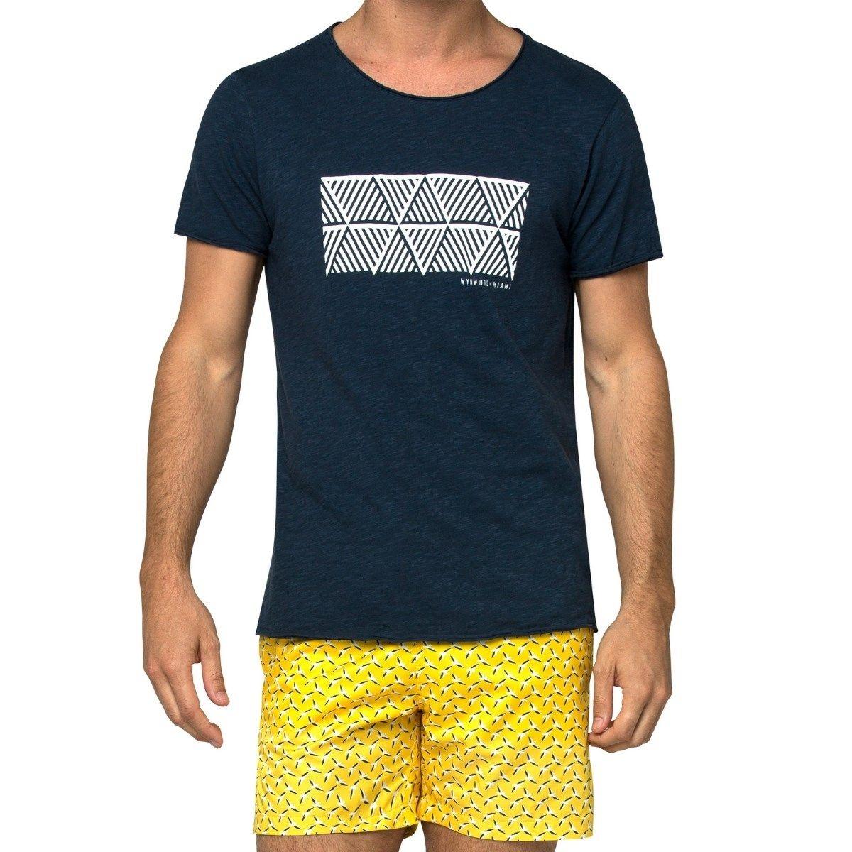T-shirt col rond imprimé WYNWOOD