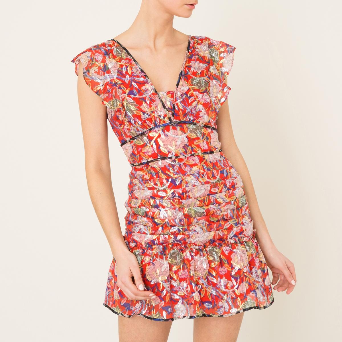 Платье JADEСостав и описание    Материал : 80% шелка, 20% люрекса    Марка : BA&amp;SH<br><br>Цвет: красный