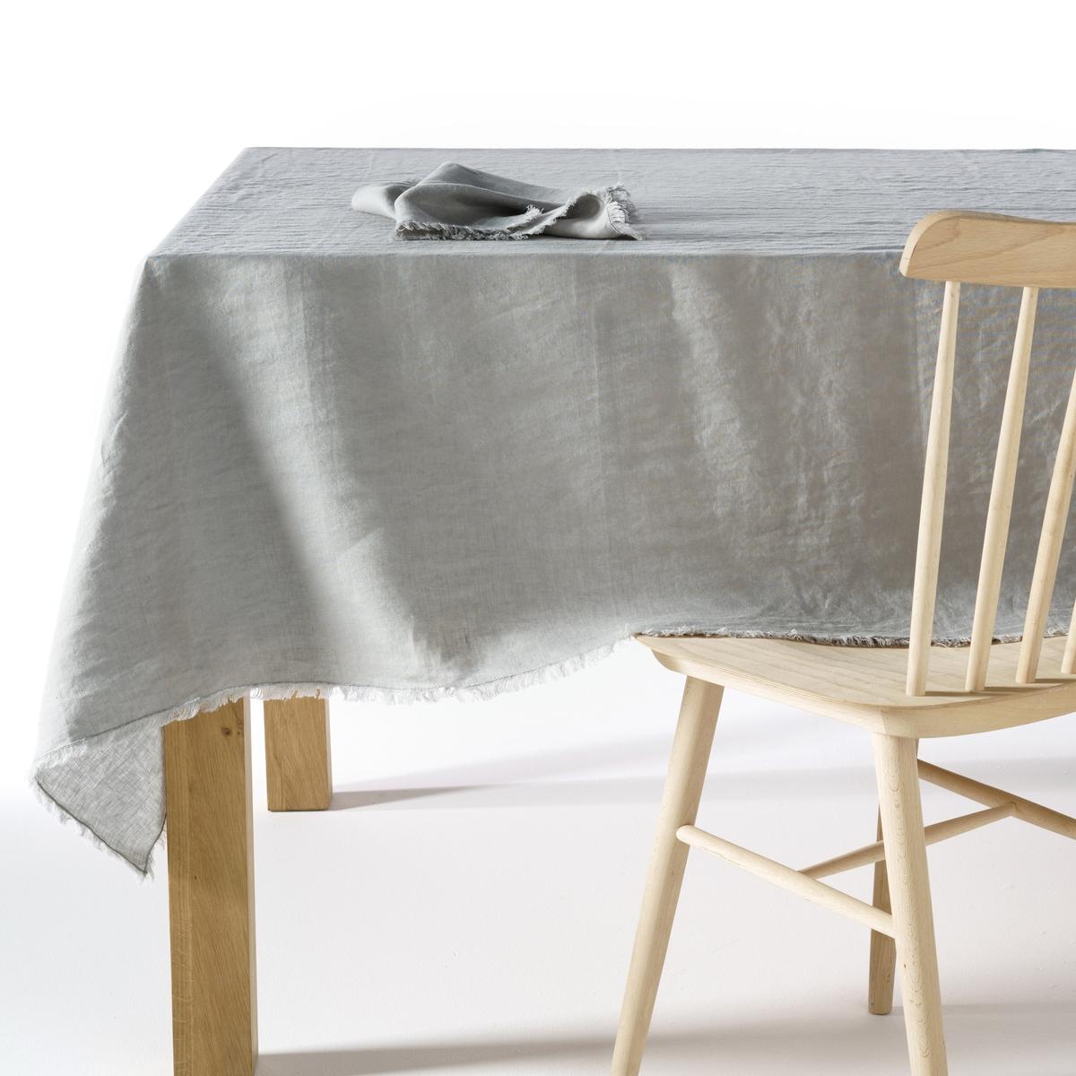 Скатерть LaRedoute Из стиранного льна Yastigi 150 x 250 см серый