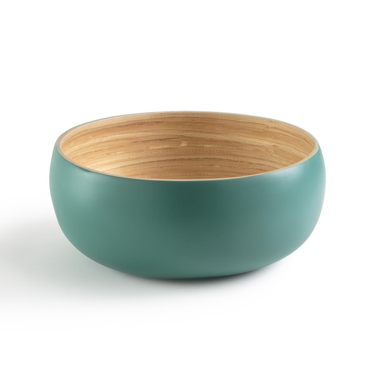 Салатница круглой формы двухцветная из крашеного бамбука BRIAMA