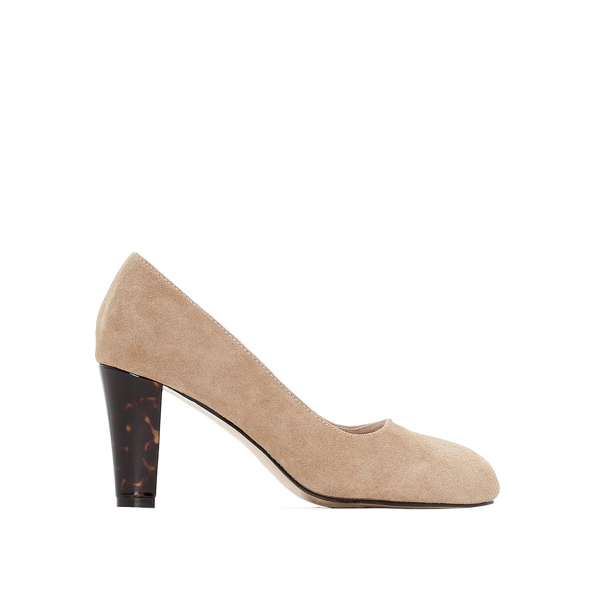 Туфли из невыделанной кожи на оригинальном каблукеТуфли Anne Weyburn. Красивый оригинальный каблук.Верх : невыделанная кожа.Подкладка : синтетика.Стелька : кожа с памятью формы.Подошва : эластомер.Высота каблука : 7 см.<br><br>Цвет: бежевый,бордовый<br>Размер: 37.35.36.39