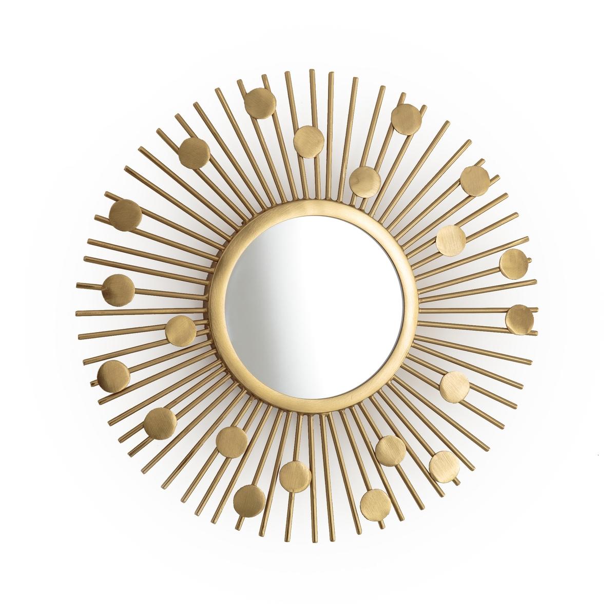 Зеркало La Redoute Винтажное SOLEIL единый размер желтый