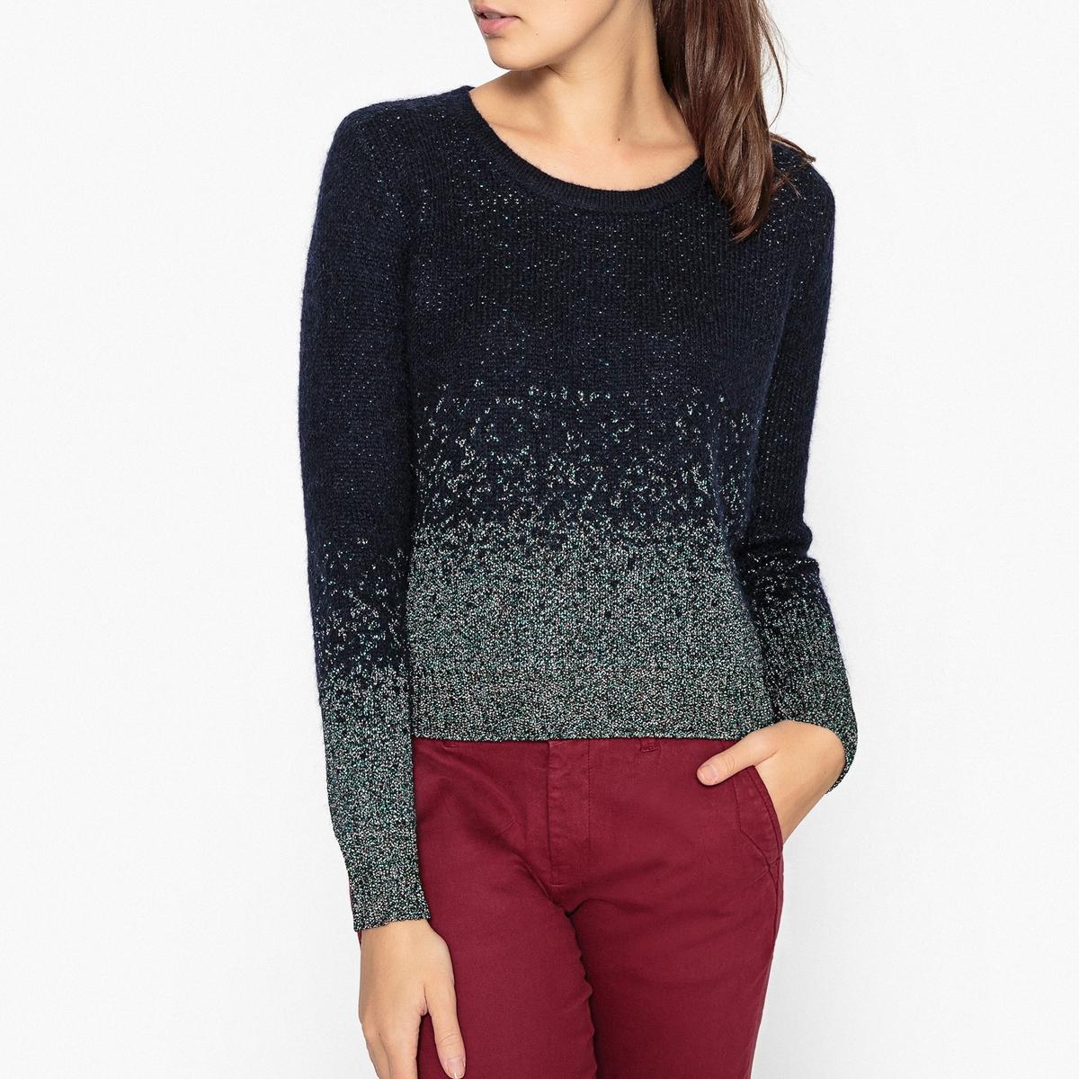 Пуловер из блестящего трикотажа LYNA