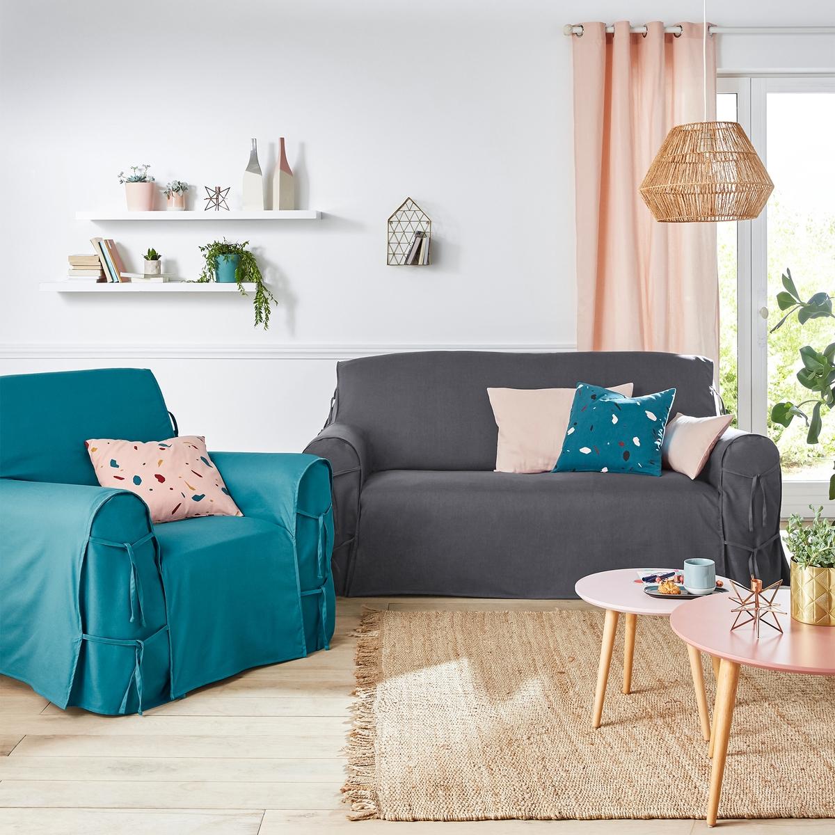 Чехол для диванаЧехол для дивана, 100% хлопка, великолепные цвета!   Характеристики чехла для дивана:Практичный чехол для дивана, регулируется завязками. Красивая плотная ткань, 100% хлопок (220 г/м?).Обработка против пятен.Простой уход : стирка при 40°, превосходная стойкость цвета.Размеры чехла для дивана:Общая высота: 102 см.Глубина сиденья: 60 см.Высота : подлокотник 66 см.3 модели на выбор : - 2-местн. : шир.142 см макс.,- 2-3 местн. : шир. 180 см макс.,- 3-местн. : шир. 206 см макс..Сверьте размеры перед заказом !Качество VALEUR S?RE.Сертфикат Oeko-Tex® дает гарантию того, что товары изготовлены без применения химических средств и не представляют опасности для здоровья человека  .<br><br>Цвет: белый,вишневый,медовый,серо-коричневый,серый жемчужный,сине-зеленый,синий индиго,сливовый,темно-серый,черный,экрю<br>Размер: 3 местн..2 места.3 местн..2/3 мест.2 места.2/3 мест.3 местн..2 места