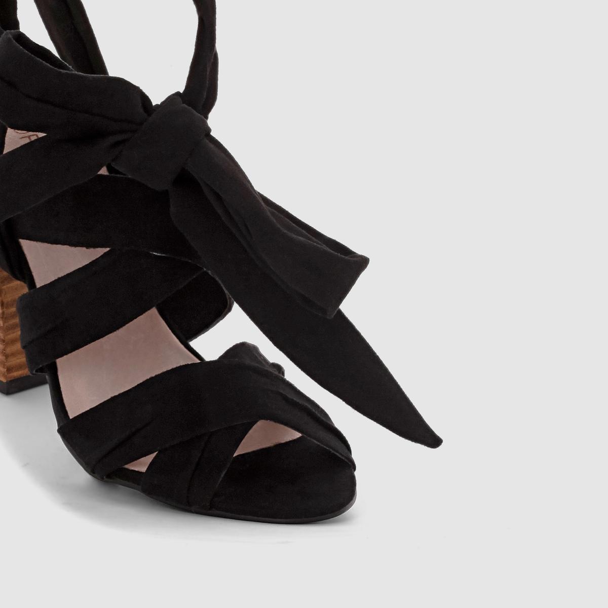 СандалииВерх : текстиль     Подкладка : кожа     Стелька : кожа      Подошва : из эластомера     Каблук : 10 см<br><br>Цвет: черный<br>Размер: 36.37.38