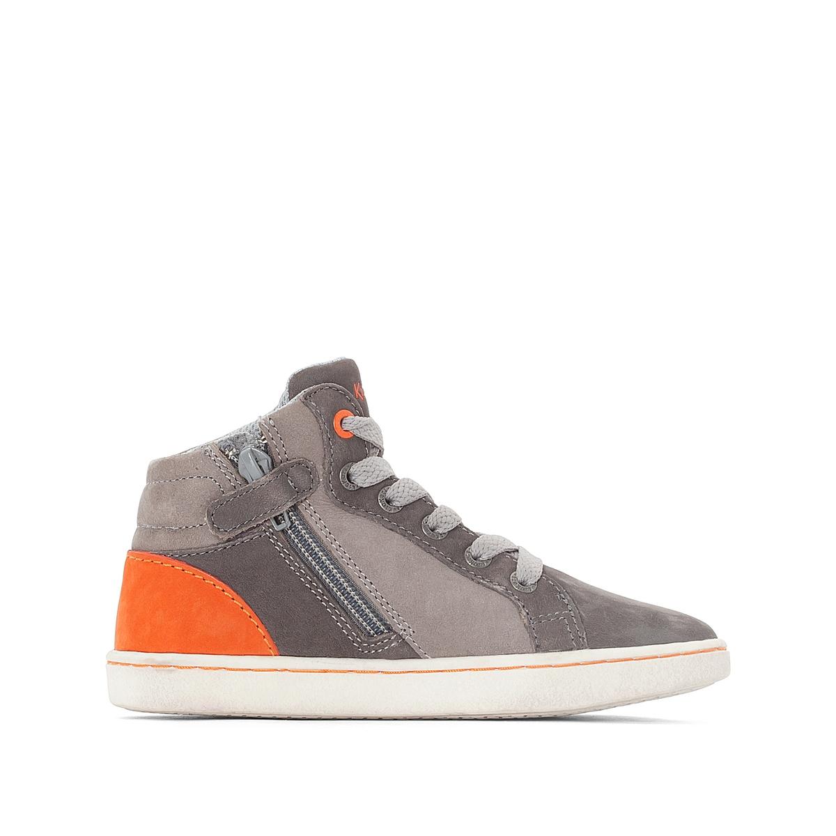 Кеды высокие LYNXДетали •  Кеды высокие •  Спортивный стиль •  Плоский каблук •  Застежка : на молнию •  Гладкая отделкаСостав и уход •  Верх 100% кожа •  Подкладка 100% синтетический материал •  Стелька 100% спилок •  Подошва 100% синтетический материал<br><br>Цвет: каштановый / красный,серый/ оранжевый
