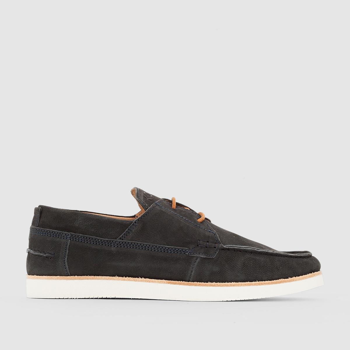 Мокасины на шнуровке, ErrolВдохновленные обувью для парусного спорта и классическими индийскими мокасинами, создатели этой модели от Kost предлагают Вам насладиться комфортом мягкого натурального нубука и дополнить ими свой неформальный образ этим летом!<br><br>Цвет: темно-синий<br>Размер: 41.44