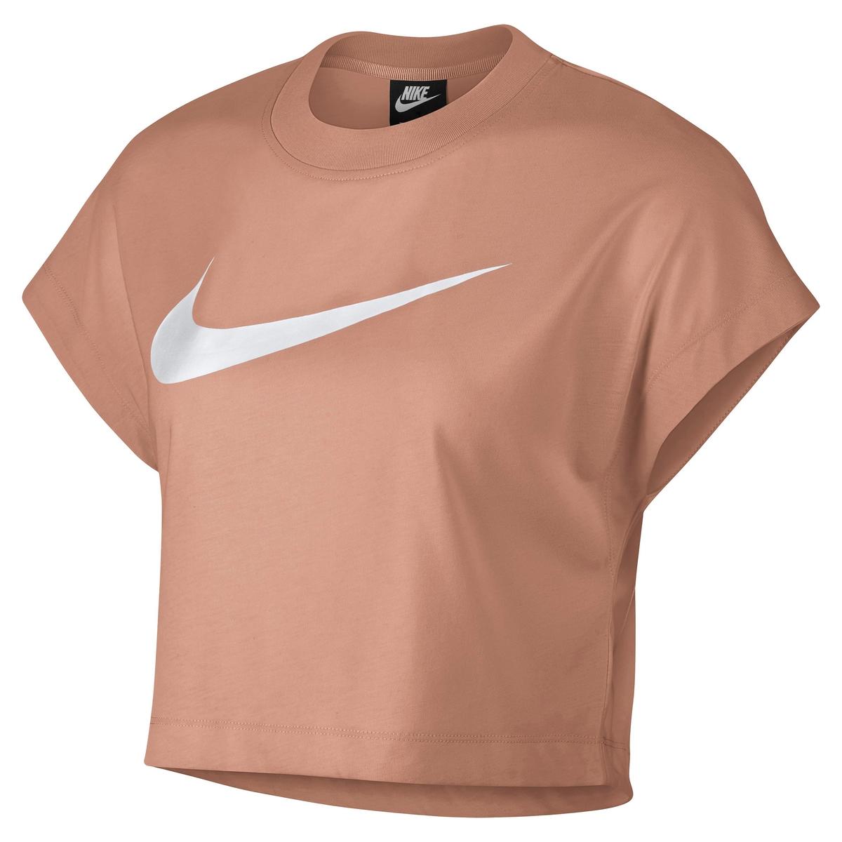 Camiseta con cuello redondo y manga corta, logotipo en el pecho