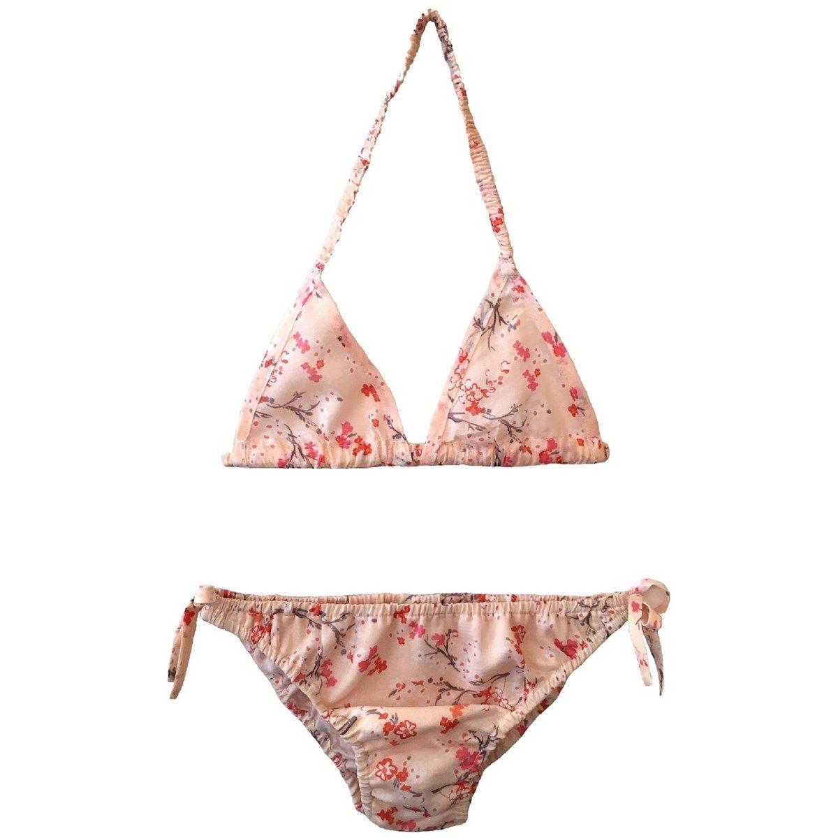 Bikini deux pièces en coton 12 ans motif fleuri KENZA