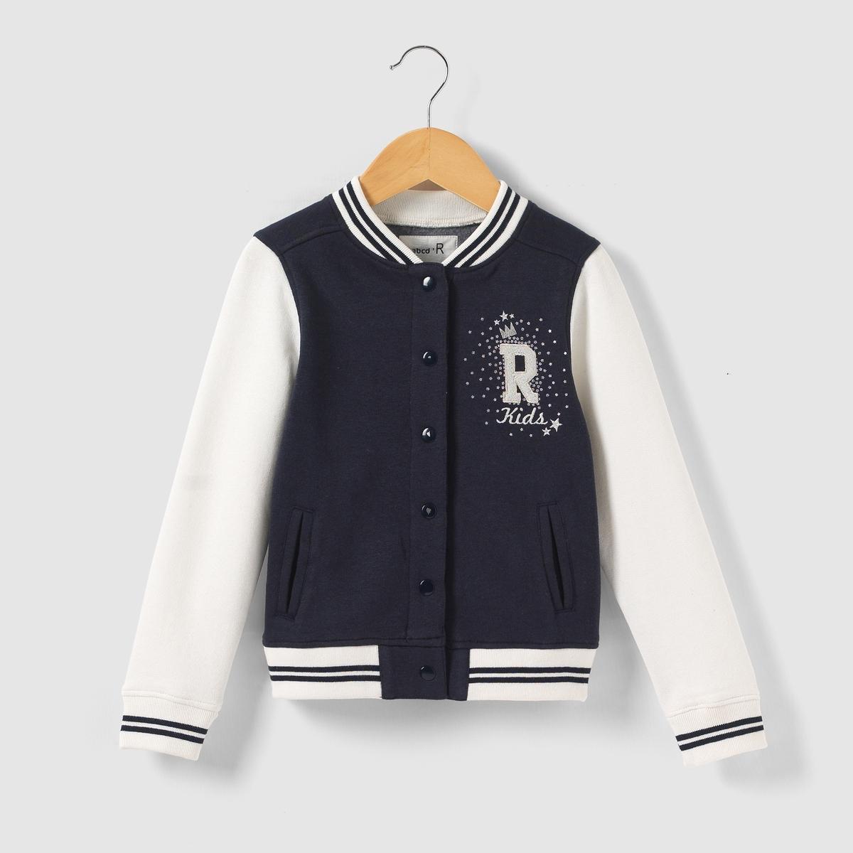 Куртка с длинными контрастными рукавами, 3-12 летКуртка с длинными контрастными рукавами. Застежка на кнопки. Вышитая надпись R Kids на груди. 2 кармана. Края связаны в полосатый рубчик. Состав и описание : Материал: мольтон, 80% хлопка, 20% полиэстераМарка: R ?ditionУход :Машинная стирка при 40°С с одеждой подобного цвета.Стирать и гладить с изнанки.Машинная сушка на умеренном режиме.Гладить при умеренной температуре.<br><br>Цвет: синий морской
