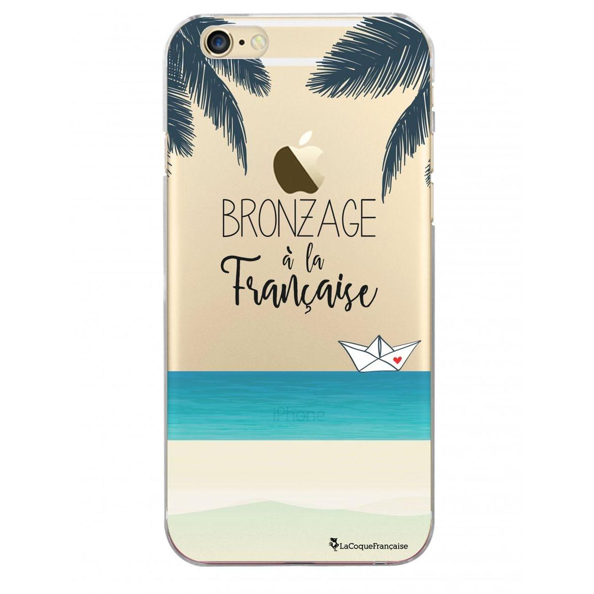 Coque iPhone 6 iPhone 6S rigide transparente, Bronzage à la française, La Coque Francaise®