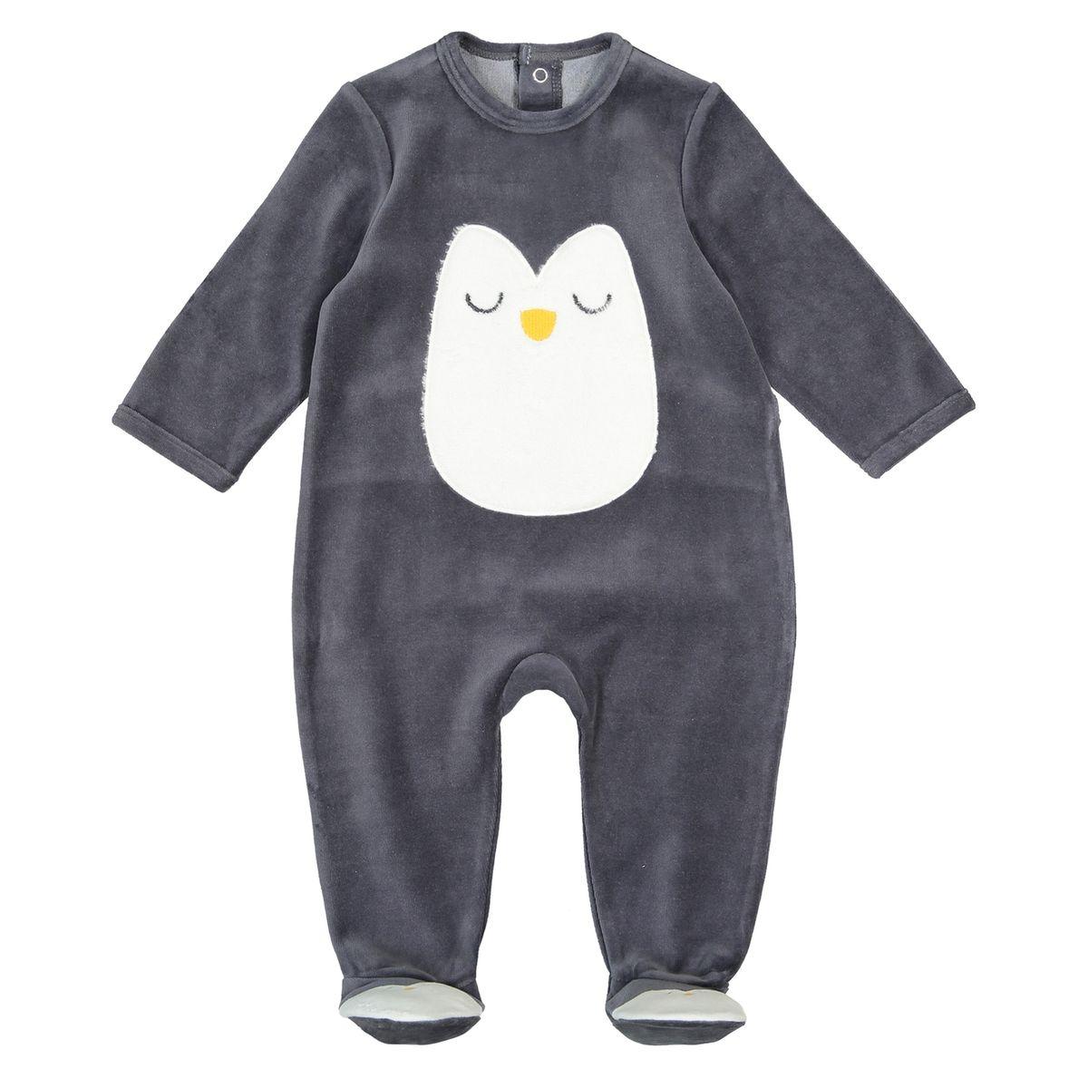 Pyjama à pieds en velours 0 mois - 3 ans