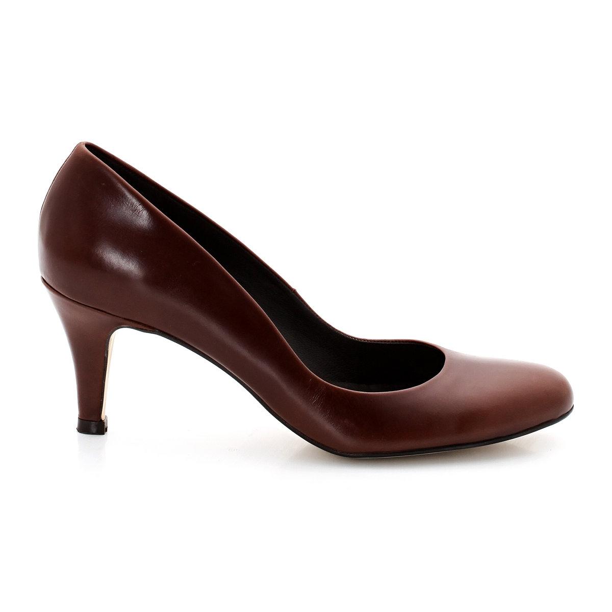 Туфли на каблукеБренд: JONAK. Верх: коровья кожа. Подкладка: кожа. Стелька: кожа. Подошва: эластомер. Высота каблука: 6 см<br><br>Цвет: каштаново-серый<br>Размер: 40