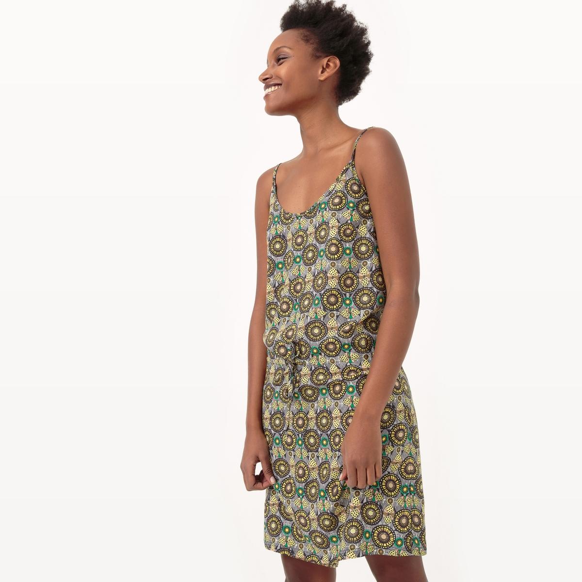 Платье короткое с принтом