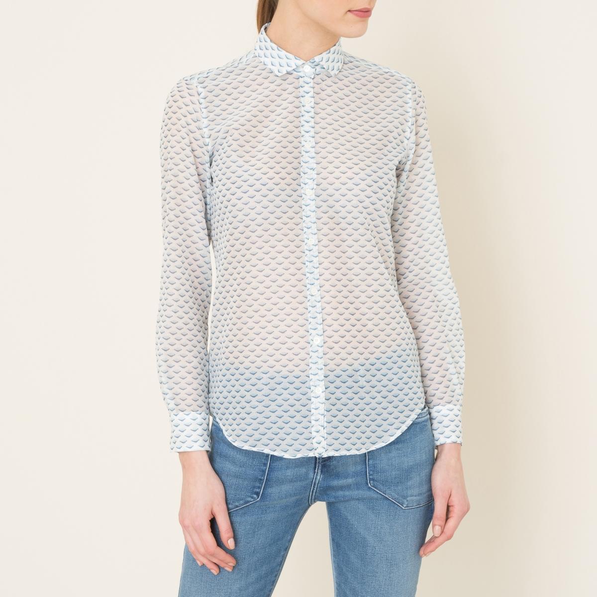 Рубашка с рисункомСостав и описание Материал : 100% хлопокМарка : HARTFORD<br><br>Цвет: белый/ синий